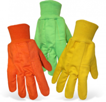 Boss gloves cotton safety glove high visibility glove